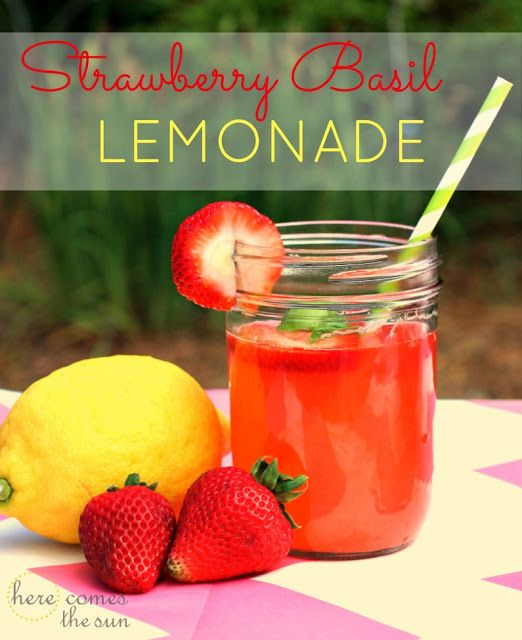 ... Strawberry Basil Lemonade on Pinterest | Basil Lemonade, Lemonade and