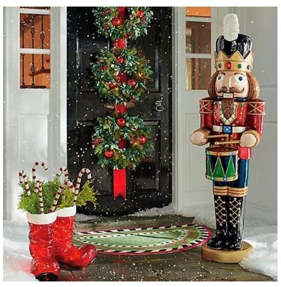 Christmas holiday decor lighted musical nutcracker large statue christmas holiday decor lighted musical nutcracker large statue indoor outdoor mozeypictures Choice Image