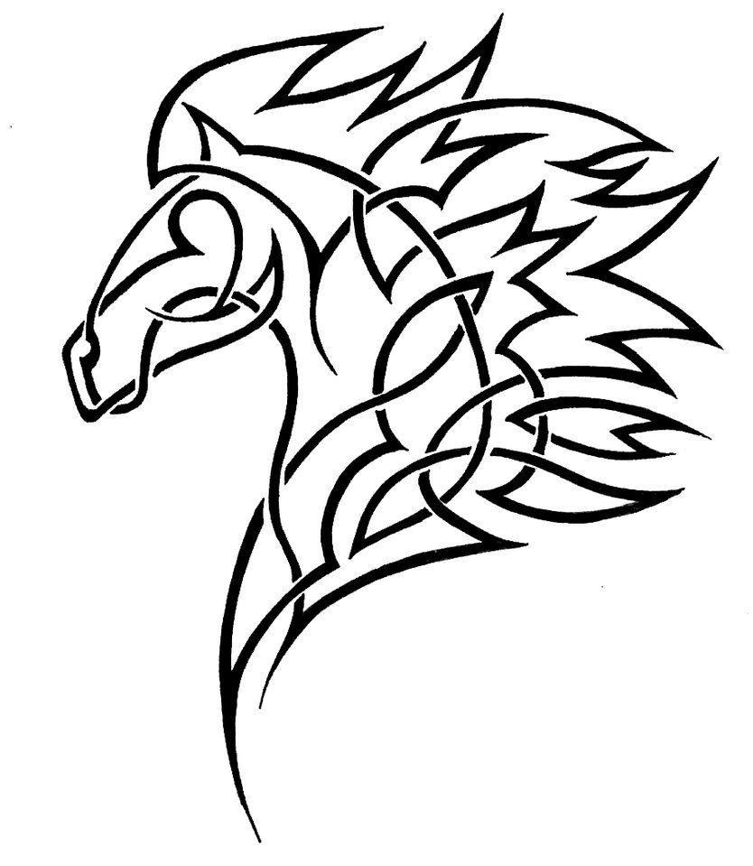 Horse tribal. Deviantart more like poisson