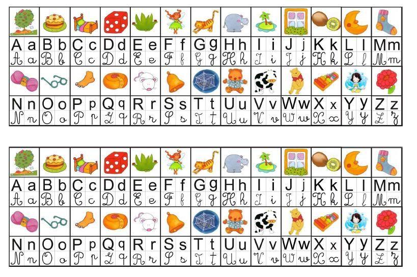 Abecedario Colorido Para Imprimir E Plastificar Alfabeto Em