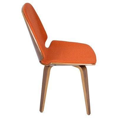 Serena Mid Century Modern Dining Chair Set Of 2 Orange Lumisource Modern Dining Chairs Dining Chair Set Dining Chairs