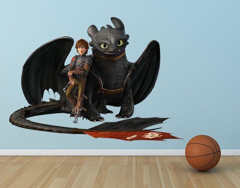 wandtattoo dragons hicks und ohnezahn machen pause ideas. Black Bedroom Furniture Sets. Home Design Ideas