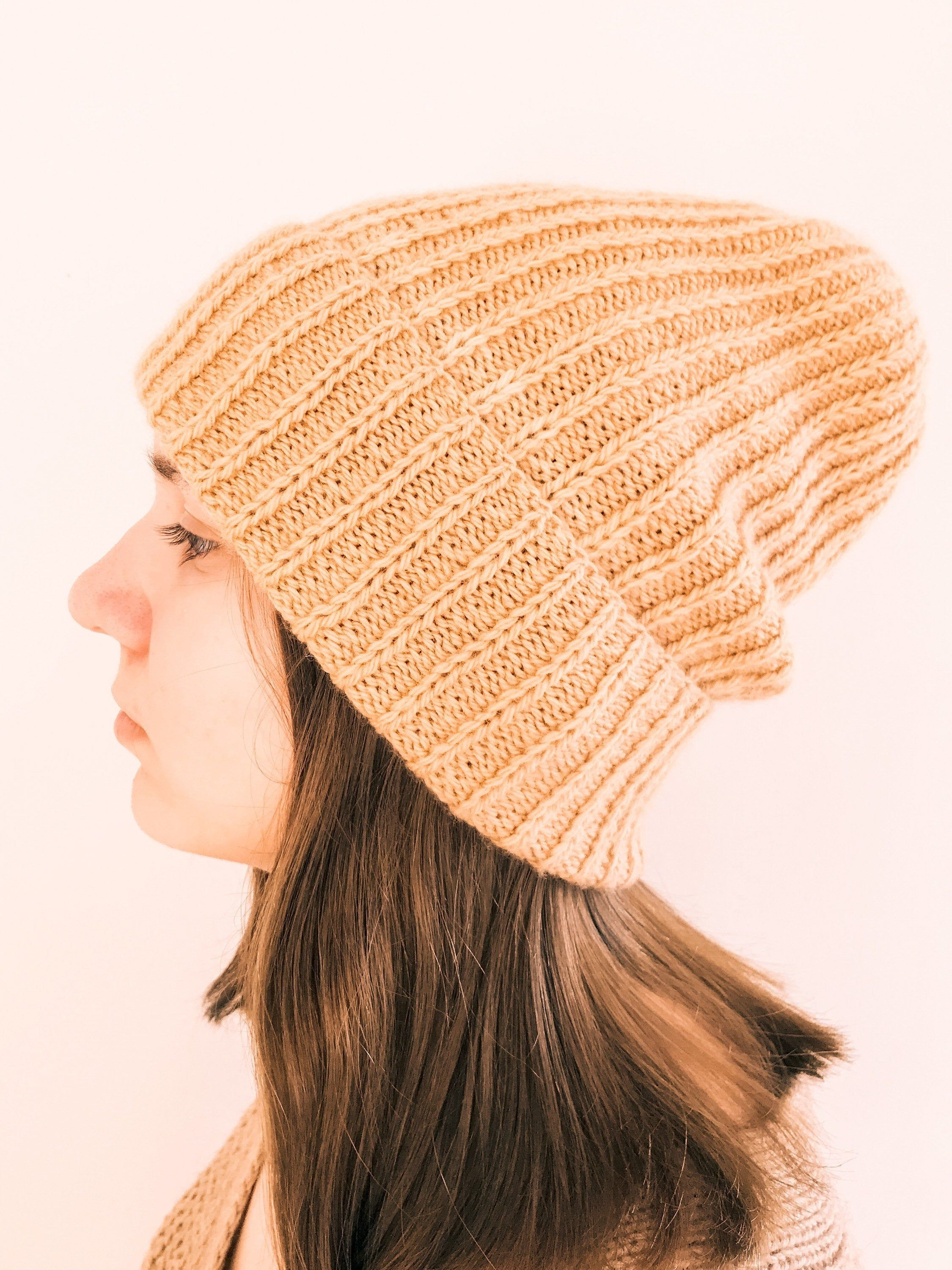 natural wool Chunky Wool Toque toque hat knit hat chunky knit beanie chunky knit hat knit warm hat