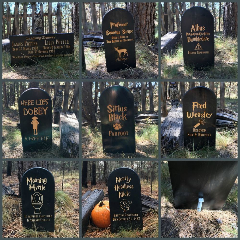 Details about Halloween Decoration Harry Potter Lawn Yard Ornament - Halloween Graveyard Decorations