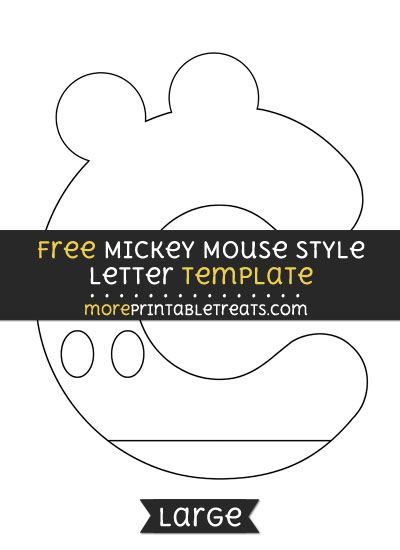 Free Mickey Mouse Style Letter C Template - Large | Say it ain\'t Sew ...