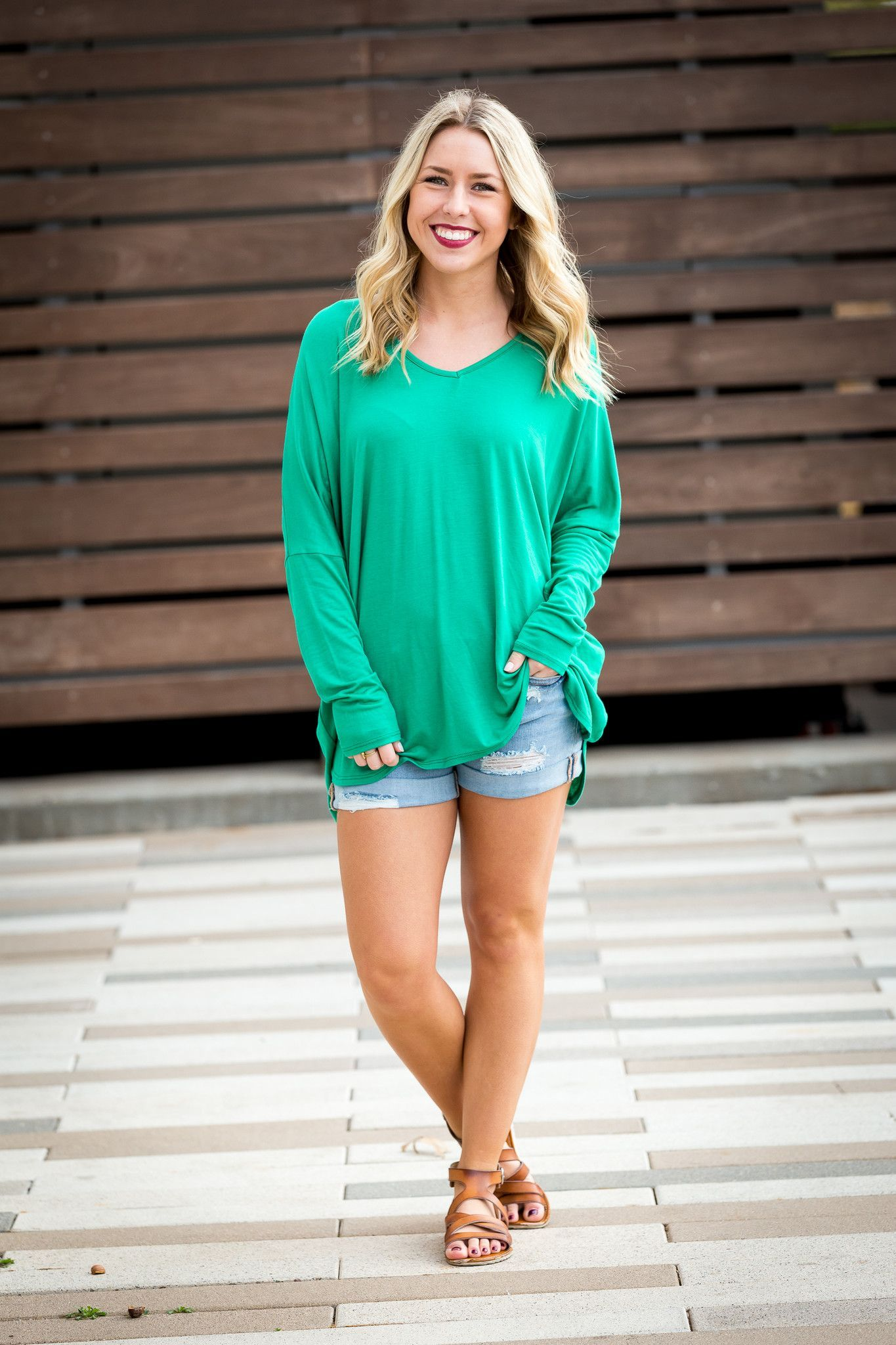 Solid v-neck knit top-more colors
