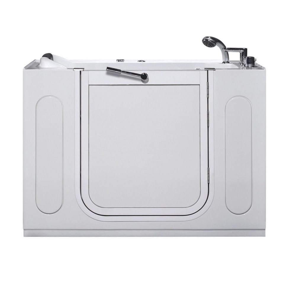 4ft. 7-inch Rectangular Right Drain Whirpool Walk-In Bathtub with ...