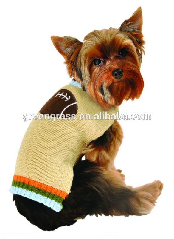2014 New product knitted dog sweaters with rugby applique Emboridery #rugby_clothing, #Products