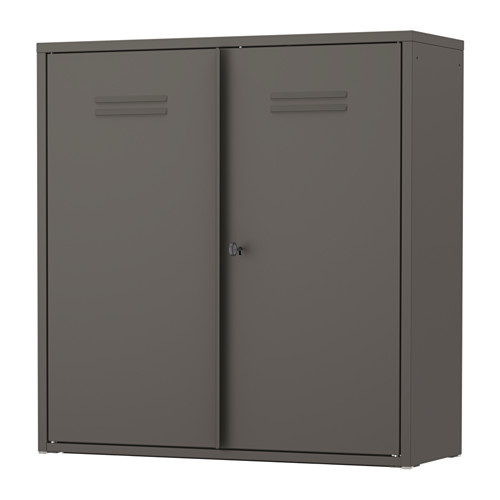 Ikea Ivar Gray Cabinet With Doors Organization Cabinet