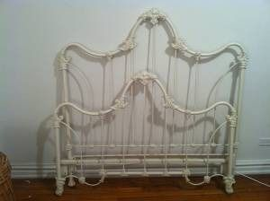 white iron headboard full designs