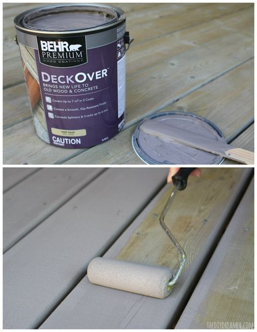 My Back Porch Has A Fresh New Look Finally Porchpaintideas Painted Wood Deck Staining Deck Behr Deck Paint