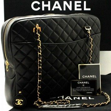Chanel Large Chain Leather Quilted Lambskin Shoulder Bag Bags Chanel Purse Vintage Chanel Handbags