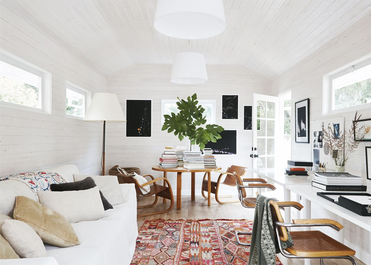 Alvar aalto house interior a backyard cottage acts as studio space  relaxed ranch house tour
