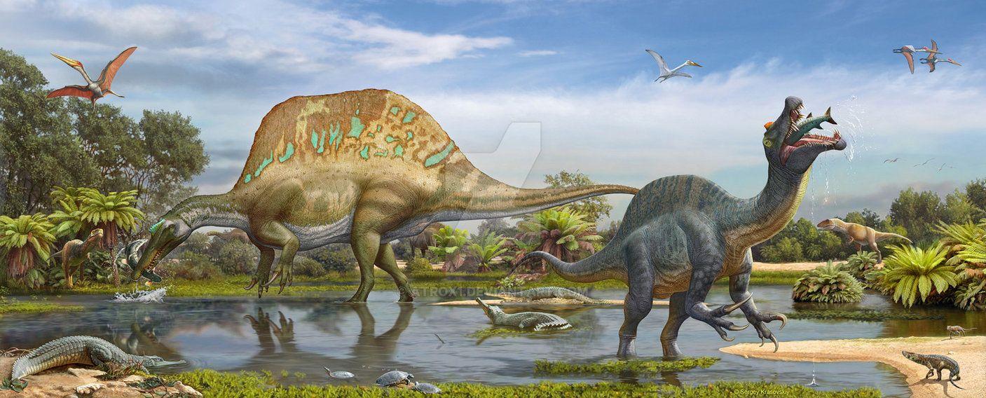 Spinosaurus and Sigilmassasaurus by atrox1 on DeviantArt | Paleo Art ...