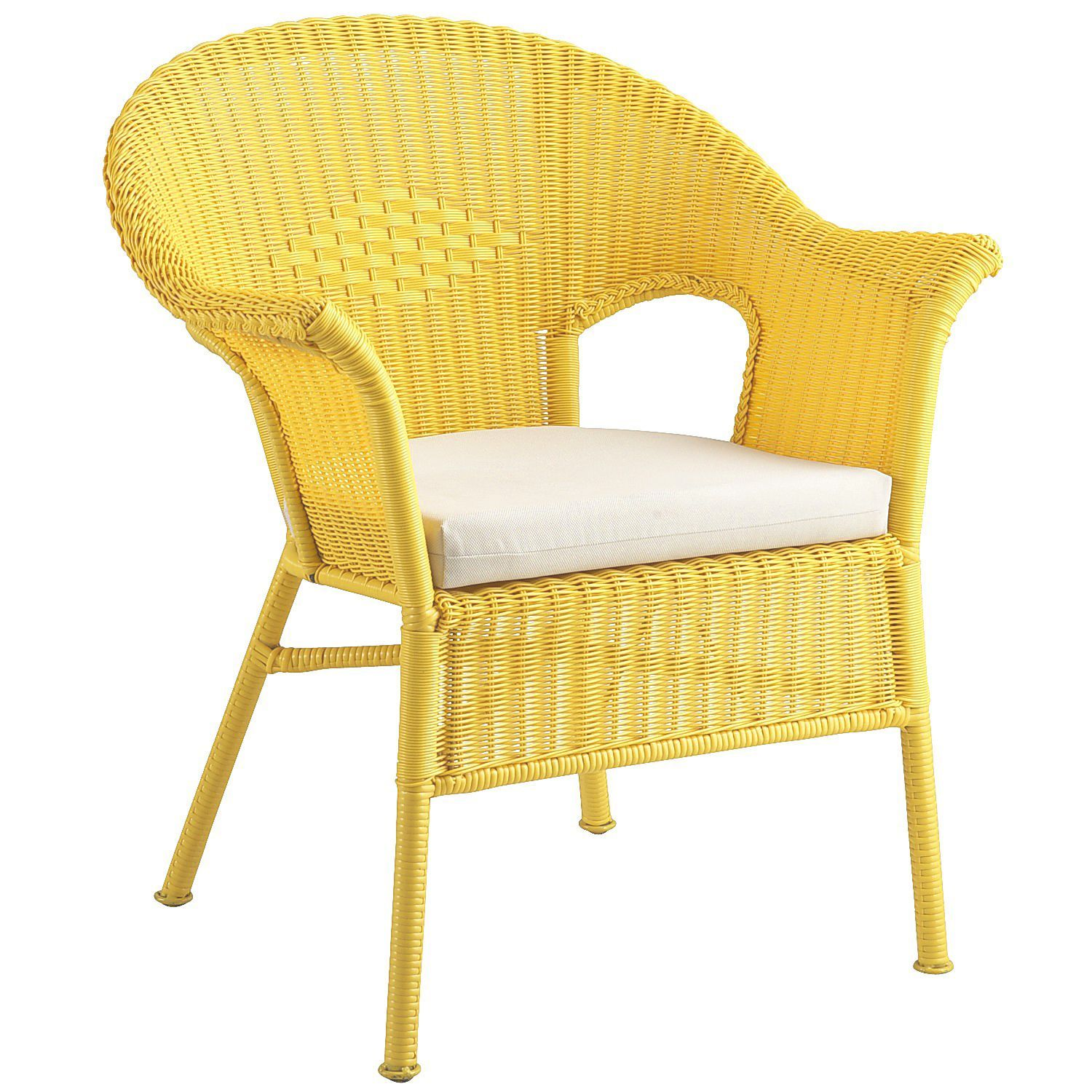 Casbah Wicker Chair - Yellow - Outdoor