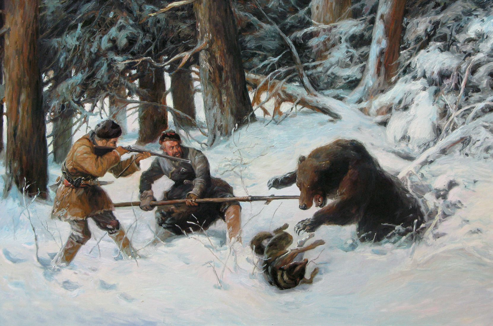полученные таком картинки охота на медведя расскажу