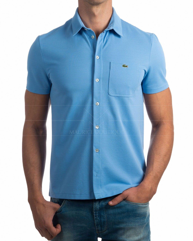Camisas Lacoste manga corta Azul Celeste - Vendome en 2019   Lacoste ... 3ee8dbc5b9