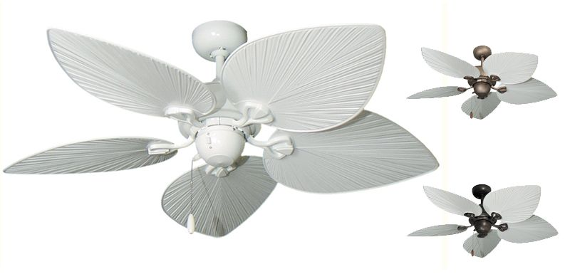 Gulf coast 42 bombay tropical ceiling fan pure white blades gulf coast 42 bombay tropical ceiling fan pure white blades aloadofball Gallery