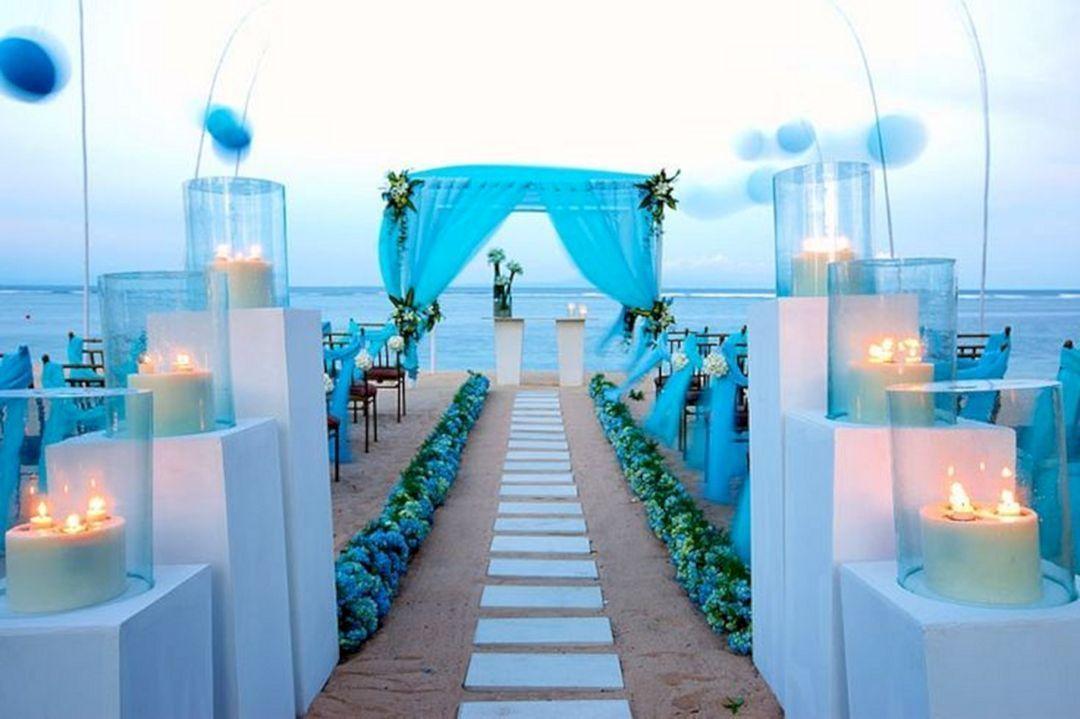 Beach Wedding Blue Decoration Blue Beach Wedding Wedding Venues