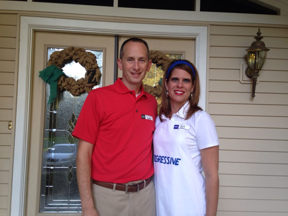 Halloween Costumes Jake From State Farm And Flo From Progressive Flo Progressive Halloween Costumes Jake From State Farm