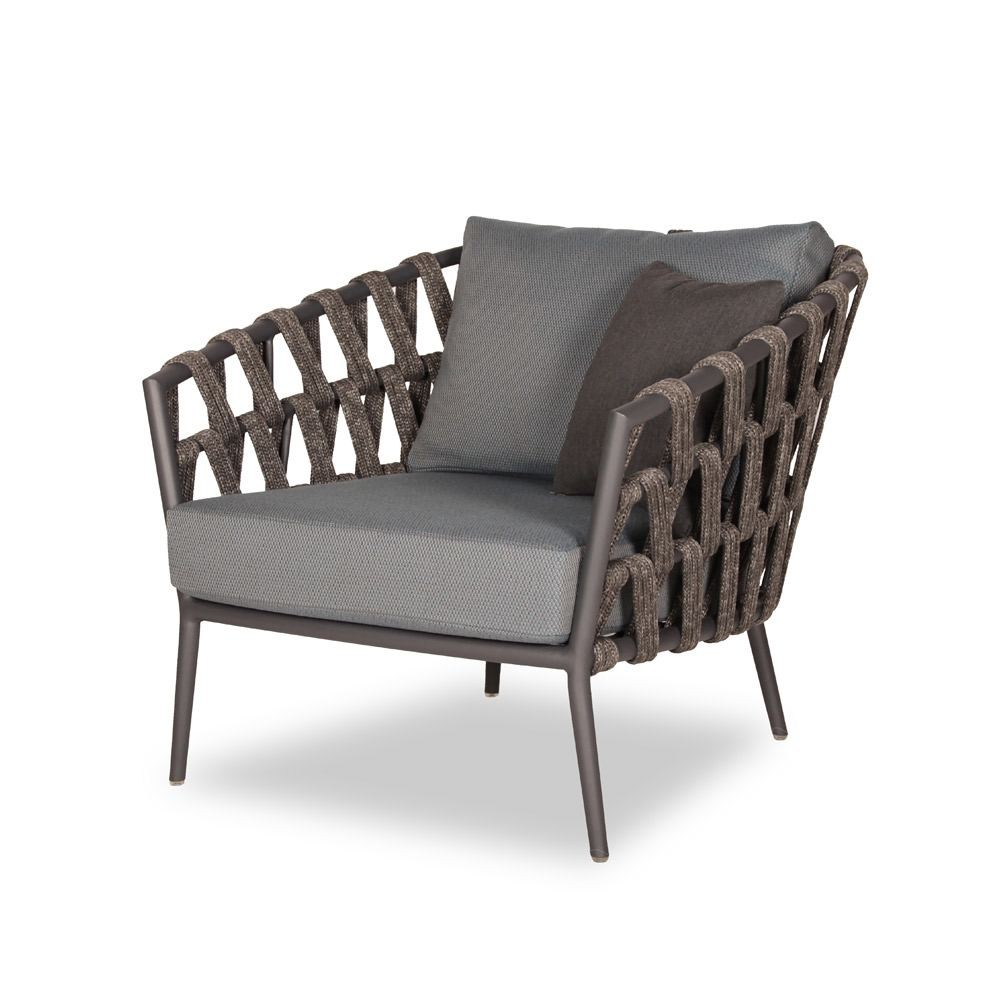Vincent Sheppard Leo Lounge Chair Lava Aluminium Acrylic Rope With Seat Back Cushion Houseology In 2020 Lounge Chair Outdoor Furniture Furniture Design