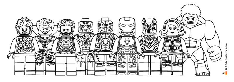 Lego Avengers Coloring Pages New Background