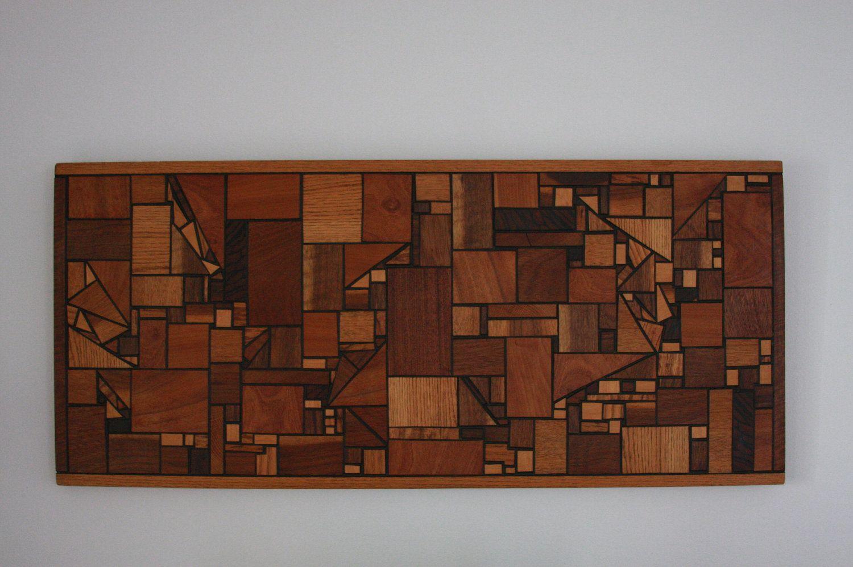 Vintage Mid Century Modern Wood Wall Art Hanging Geometric s