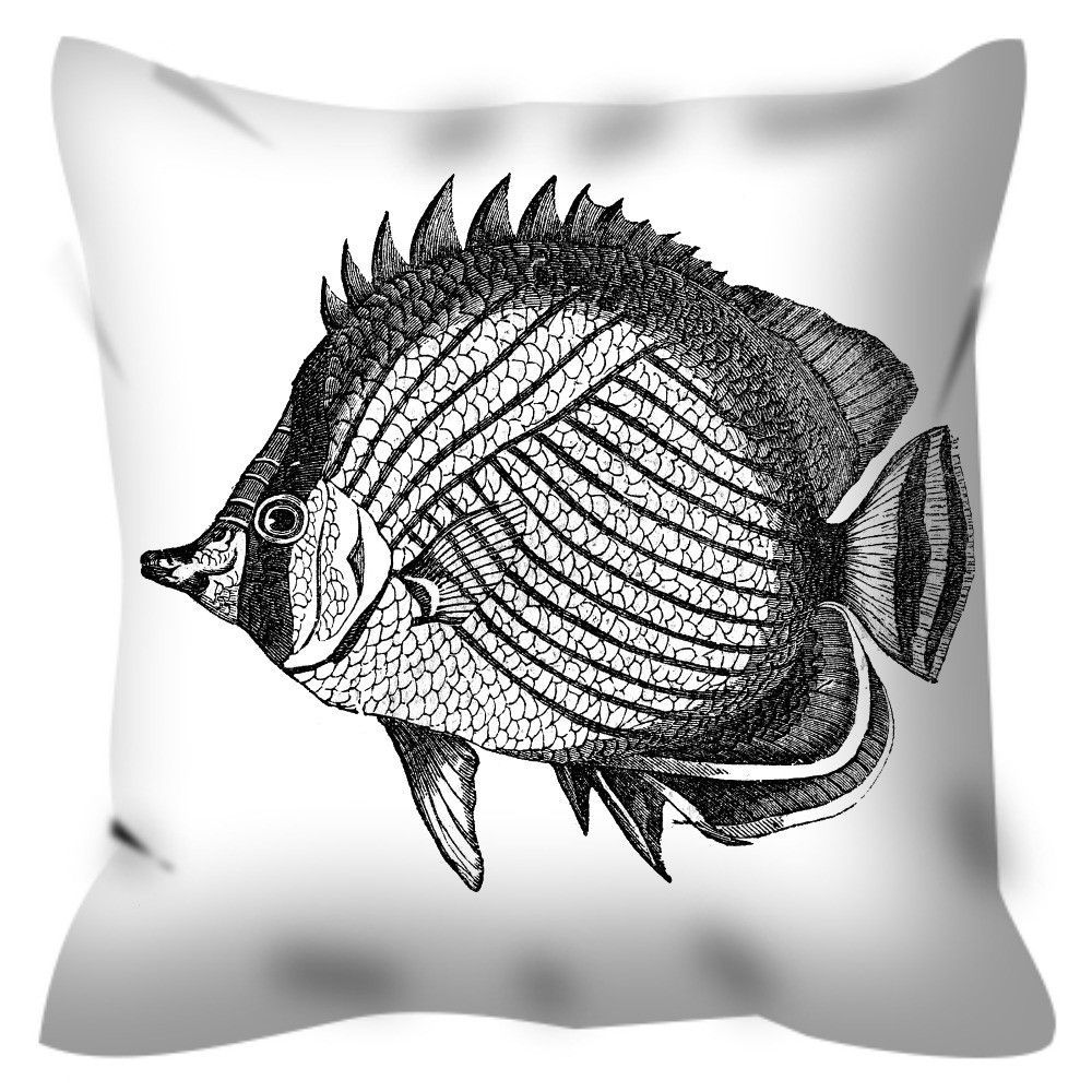Fish Coloring Pillow By Tinge&Hue