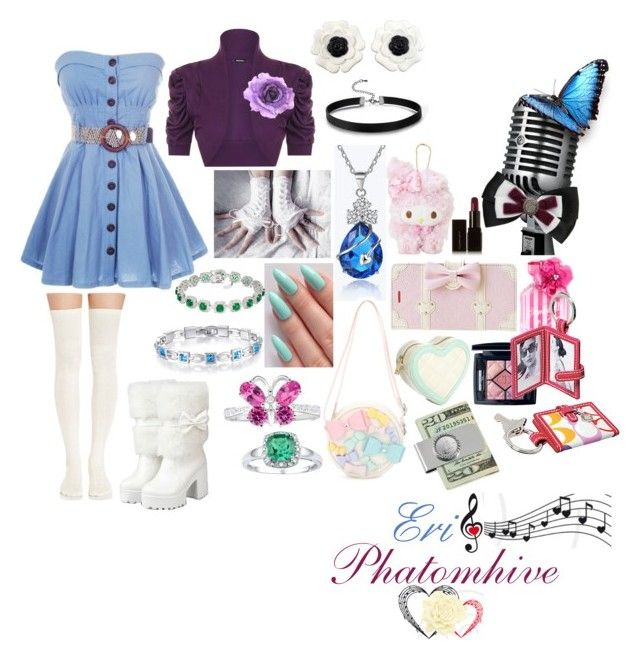 """Eri Phantomhive(idol Singer)"" by sasukeuchiha2498 on Polyvore featuring beauty, WearAll, Chanel, ASOS, Sebastian Professional, Illamasqua, Christian Dior, American Coin Treasures, Victoria's Secret and Coach"