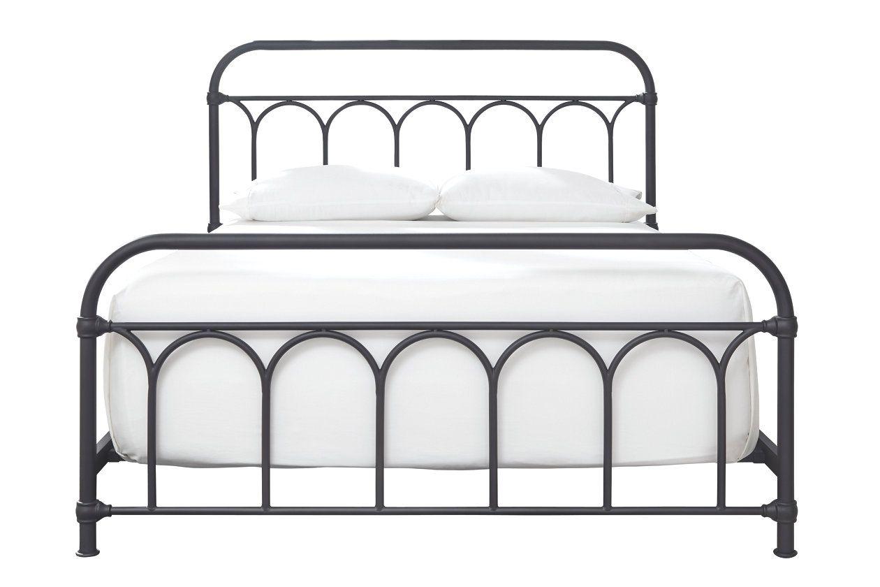 Nashburg Queen Metal Bed With Images Queen Metal Bed Metal