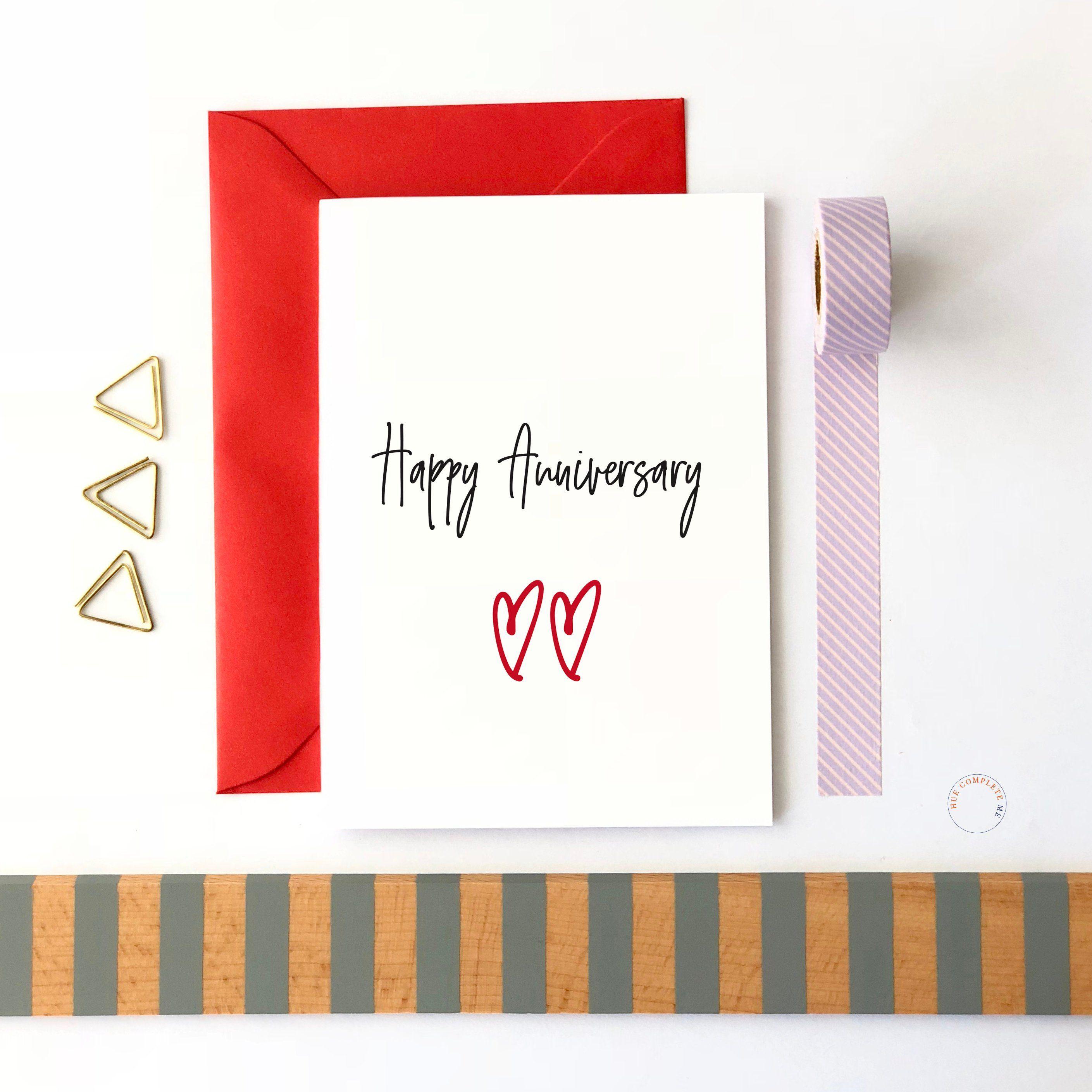 Happy Anniversary Card Anniversary Gift Wedding Anniversary First