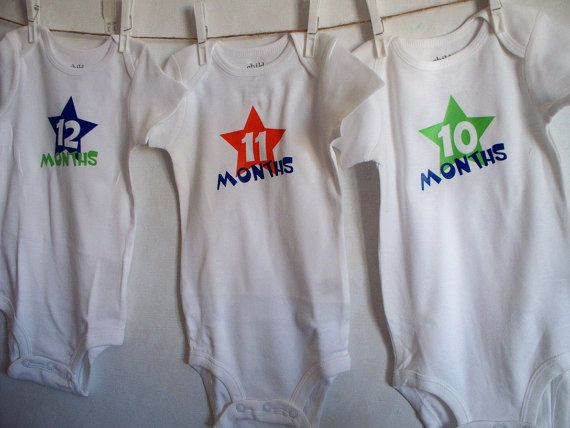 Monthly Bright Star Onesies Make Self Sells At Hobby Lobby