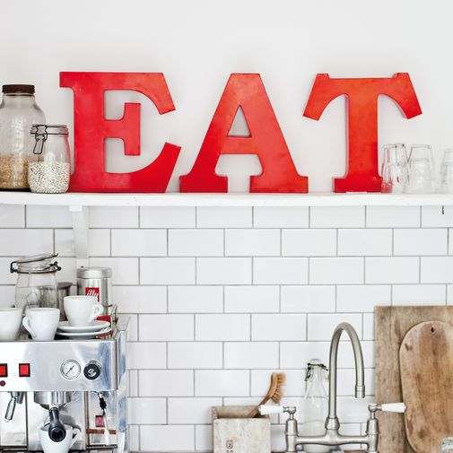 Like This Idea: EAT Red Metal Letters For Kitchen. However, Iu0027d