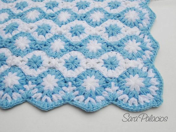 crochet baby blanket pattern stars on the sea puff flower blanket crochet flower pattern. Black Bedroom Furniture Sets. Home Design Ideas