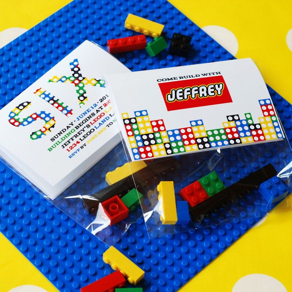 Great Birthday Party Invitation for Boys who love Legos! Building ...