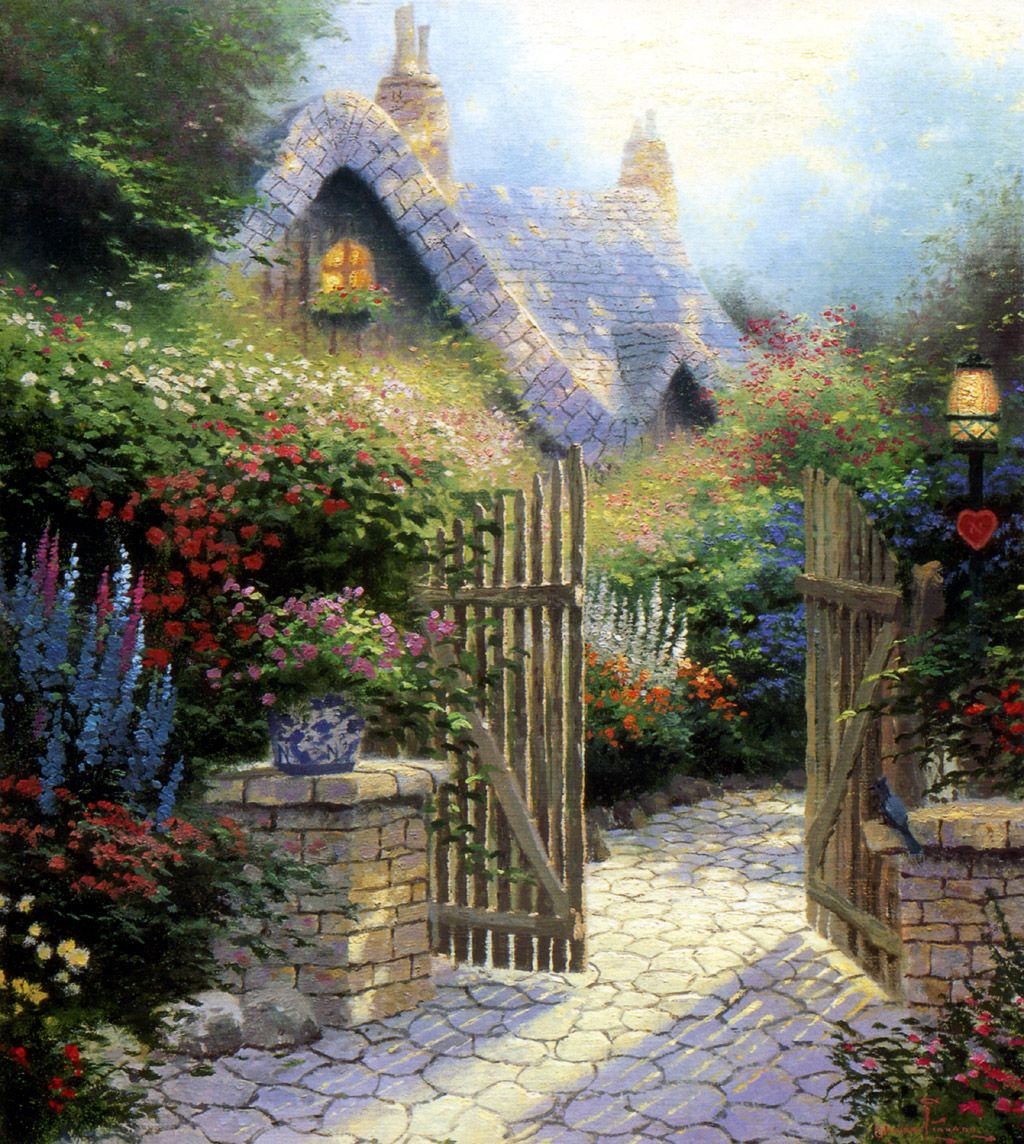 Thomas Kinkade Beyond The Garden Gate 07 Thomas Kinkade