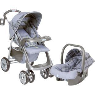 Conjunto: Carrinho de Bebê Burigotto Línea Murano + Bebê Conforto Burigotto Touring Murano     Carrinho de Bebê Burigotto Línea  Para crianças até 15 kg
