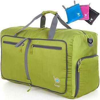 Bago Travel Duffel Bag For Women   Men – Foldable Duffle For Luggage Gym  Sports d507e6e979