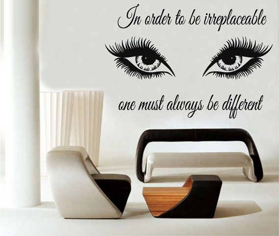 art quote wall decals in order to be irreplaceable decal eyes