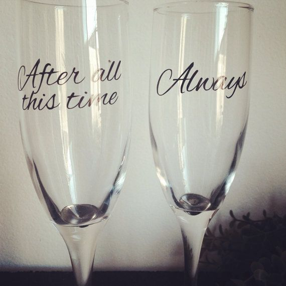 After All This Time Always Champagne Flutes On Etsy 18 00 Harry