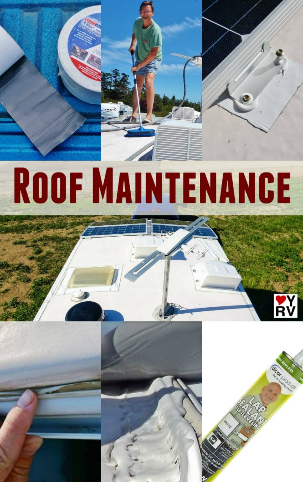 Bor Roofing Routine Rv Roof Maintenance Inspection And Leak Protection