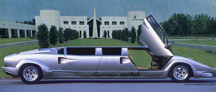 Lamborghini Countach 25th Anniversary Limousine Exotic Cars