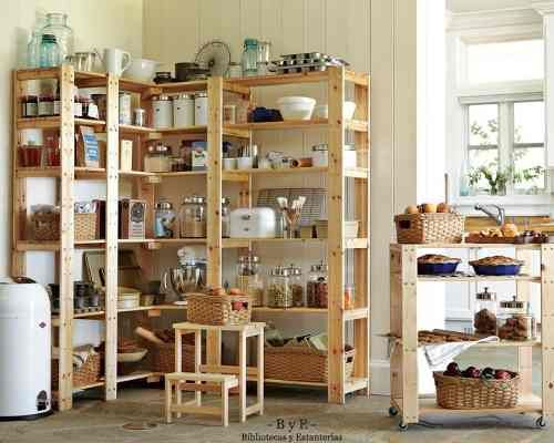 bibliotecas y estanterías madera pino brasil reciclada | Living ...
