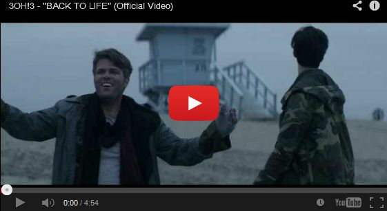 "Watch: 3OH!3 - ""BACK TO LIFE"" See lyrics here: http://3oh3lyrics.blogspot.com/2013/10/back-to-life-lyrics-3oh3.html #lyricsdome"