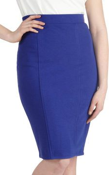 Style Essential Skirt in Blue on shopstyle.com