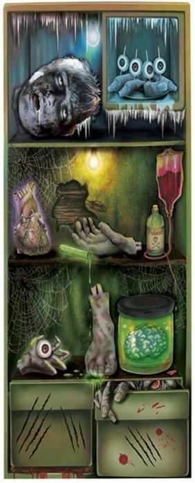 Decora la nevera de tu casa con este poster. #halloween #ideashallowen #decoracionhalloween