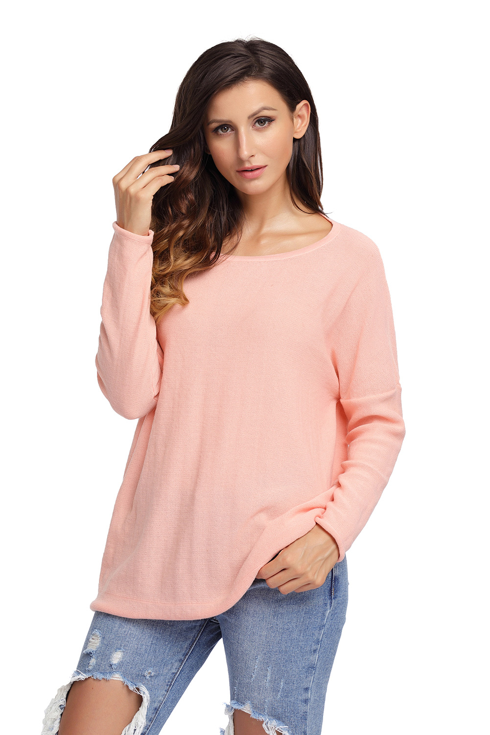 24f5280fe8c Salmon Backless Twist Knit Long Sleeve Dolman Top  style  fashion   boutiquefashion  victoryroze  wearevictoryroze  ladiesfashion  dress   clothes  ootd  wwt ...