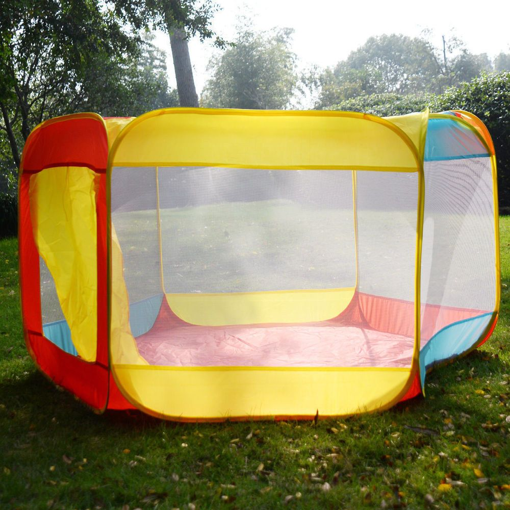 Details about folding portable playpen baby play yard with travel
