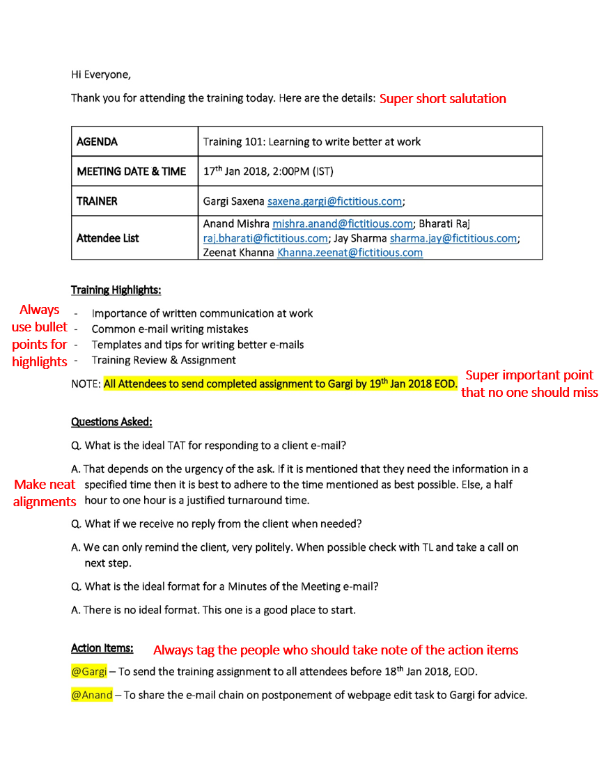Minutes Of The Meeting A Quick Guide Meeting Notes Template Business Writing Work Train