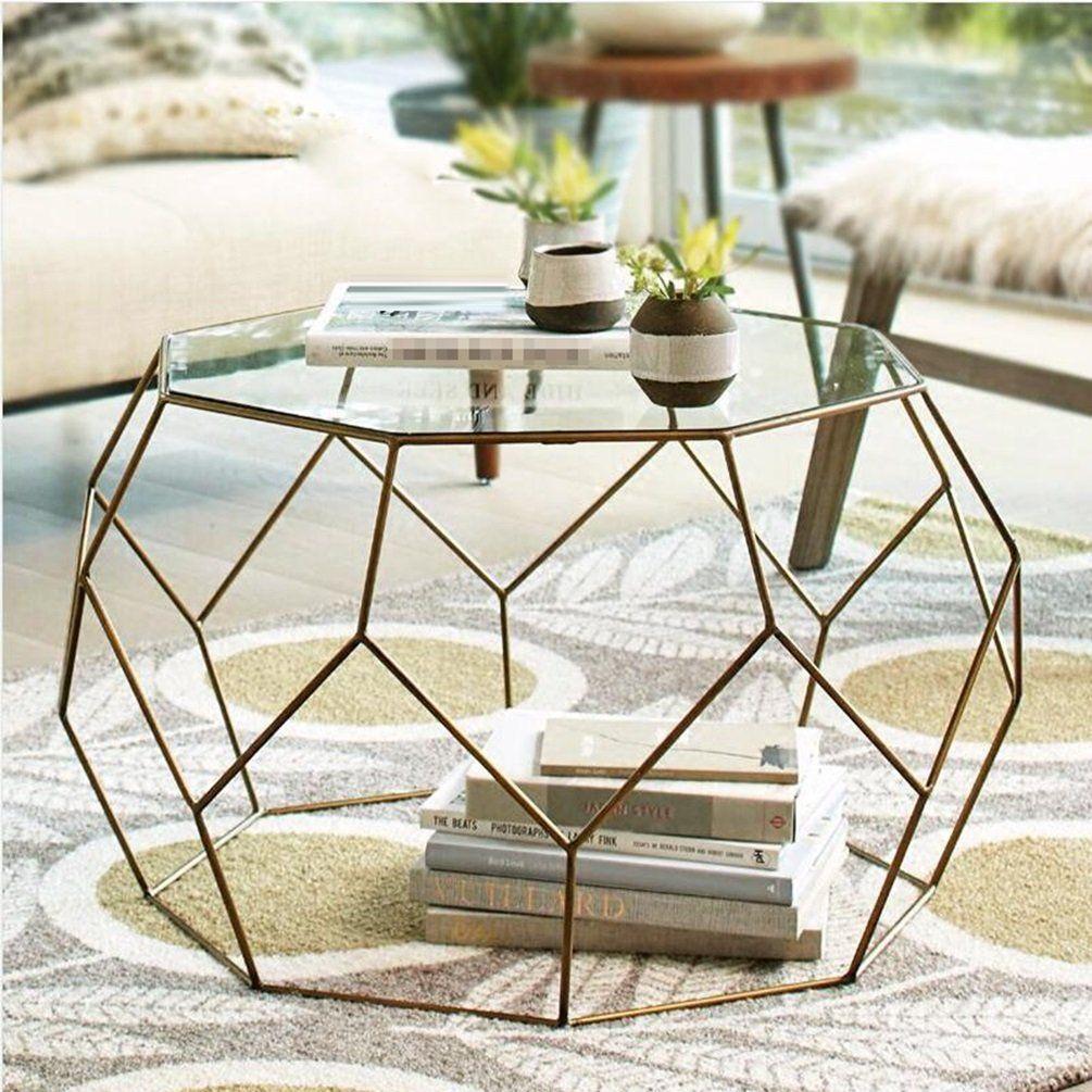Glj Nordic Small Table Living Room Round Mini Coffee Table Modern Metal Simple Side Glass Tea Table Wrought Ir Living Room Table Coffee Table Iron Coffee Table [ 1005 x 1005 Pixel ]